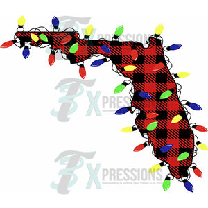 Florida, Buffalo Plaid Christmas Lights