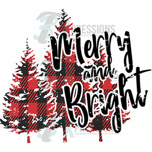 Merry and Bright Buffalo Plaid Christmas Trees