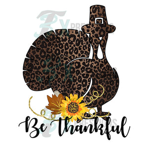 HTV Be Thankful Leopard Turkey