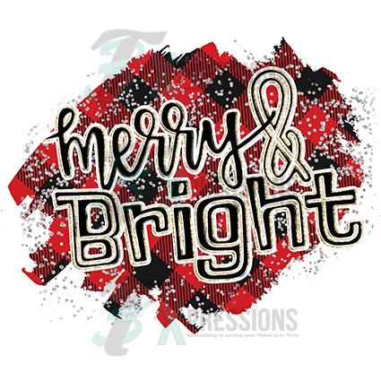 Merry And Bright Buffalo Plaid Background 3t Xpressions