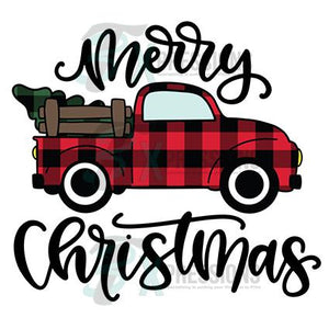 Buffalo Plaid Merry Christmas Truck