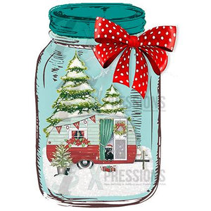Glass Jar Christmas Camper