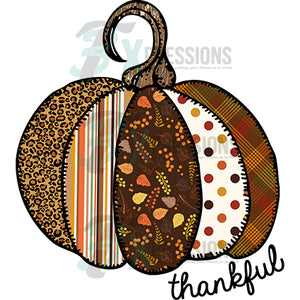 HTV Thankful Patchwork Pumpkin