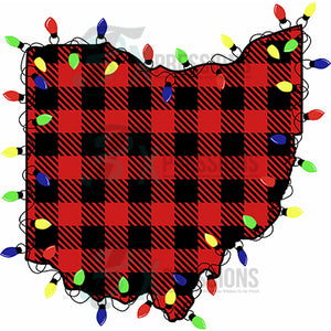 Ohio, Buffalo Plaid Christmas Lights