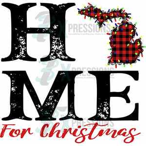 Michigan Buffalo Plaid Home for Christmas