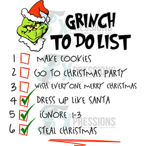 Grinch to do list