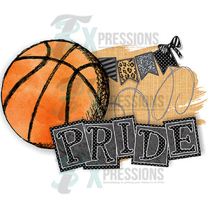 HTV Personalized Black Basketball Pride