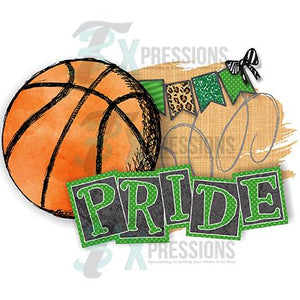 Personalized Green Basketball Pride