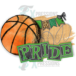 HTV Personalized Green Basketball Pride