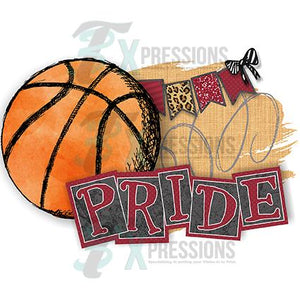 Personalized Maroon Basketball Pride