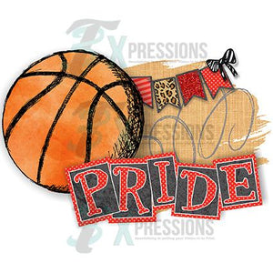 Personalized Red Basketball Pride