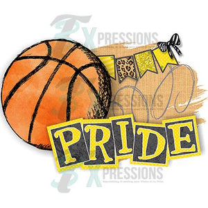 Personalized Yellow Basketball Pride