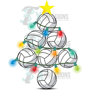 Volleyball Christmas Tree