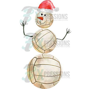 Volleyball Snowman