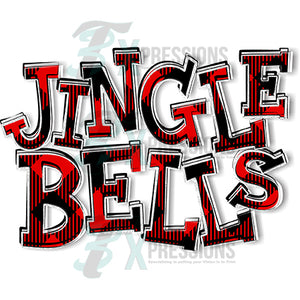 HTV Jingle Bells Buffalo Plaid