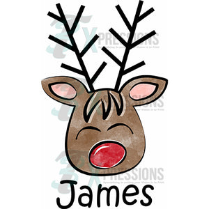 Personalized Boy Reindeer