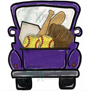 Purple Softball Truck