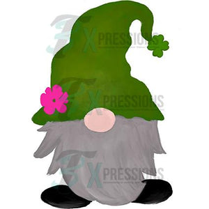 St Patricks Watercolor Gnome