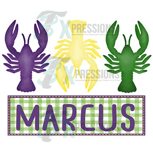 HTV Personalized Mardi Gras Crawfish
