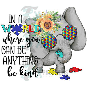 be kind elephant autism