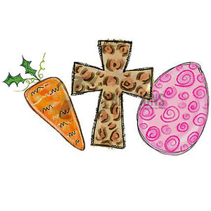 Carrot, Cross, Egg