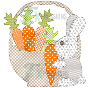 Patchwork Easter Bunny with basket
