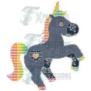 Patchwork Unicorn with heart patch