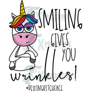 Smiling Gives You Wrinkles