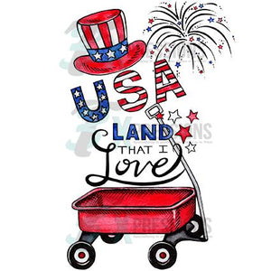 USA Land that I Love Wagon
