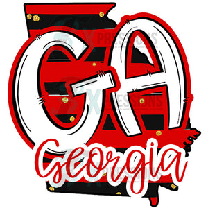 Red and Black Georgia