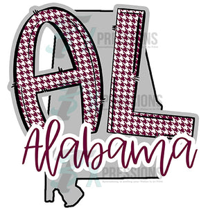 AL Alabama State outline