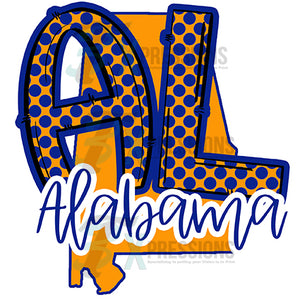 Al Alabama Gold and Blue