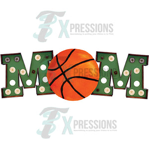 Green Marquee Basketball Mom