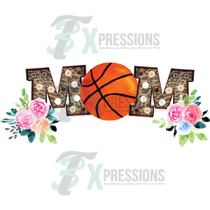Leopard Marquee Basketball Mom