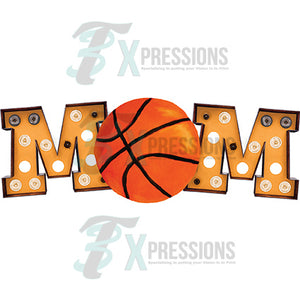 Marquee Orange Basketball Mom