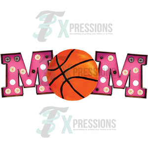 Marquee Pink Basketball Mom