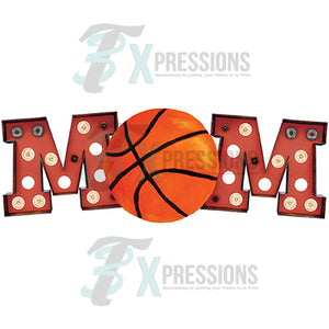 Marquee Red Basketball Mom