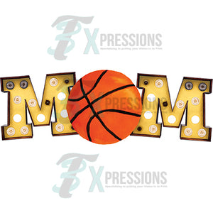 Marquee Yellow Basketball Mom