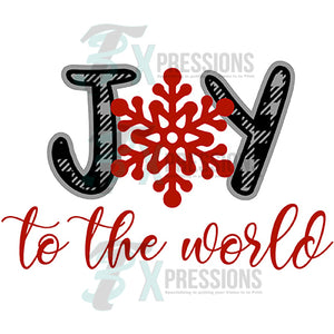 JOY TO THE WORLD Snowflake