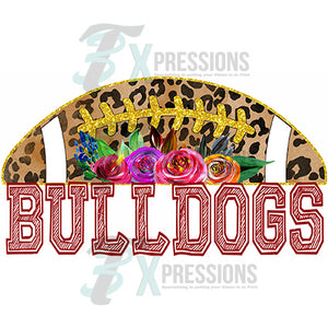 Personalized Leopard and Floral Football