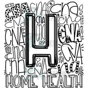 Home Health-CNA Typography