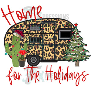 Home for the Holidays Leopard Camper