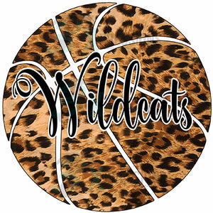 Personalized Cheetah Print Basketball