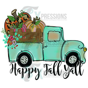 Happy Fall Yall Painted Truck