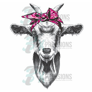 Breast Cancer Awareness Goat