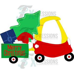 Cozy Coupe Christmas Red and Yellow