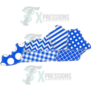 Blue and White Patchwork Kentucky