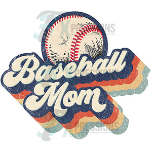 Baseball Mom Retro