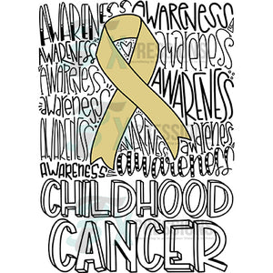 Awareness-Childhood Cancer typography