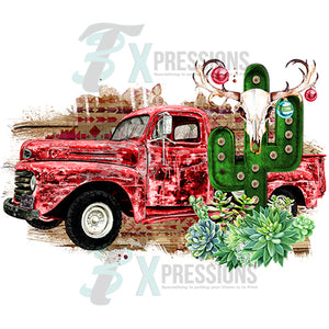 Southwest Vintage Christmas Truck